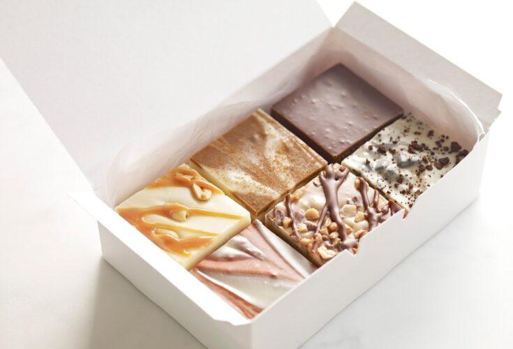 Homemade fudge box